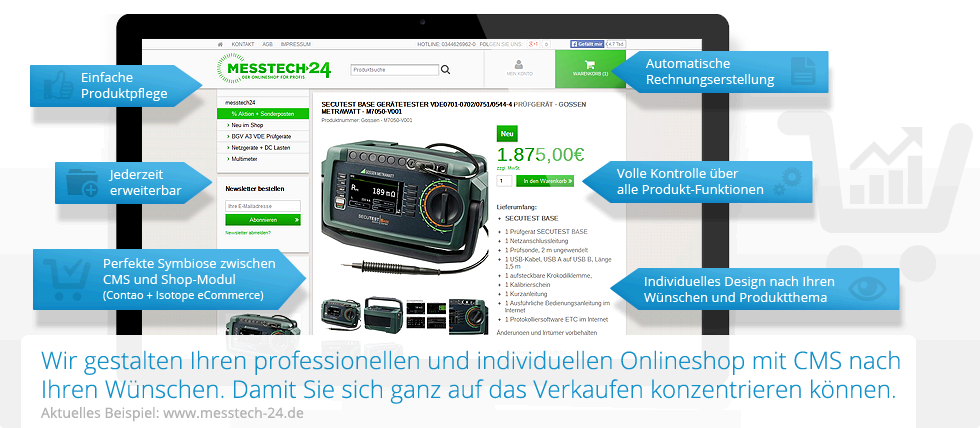 "Referenzkunde: Onlineshop ""Messtech-24"""